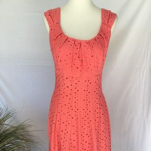 Maggy L Fully Lined Coral Spring Easter Dress 12